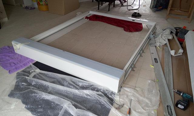 pose de la baie vitr e linteau volet roulant etc bricoleur. Black Bedroom Furniture Sets. Home Design Ideas